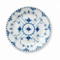 Royal Copenhagen Fluted Full Lace Dessert Plate in Blue