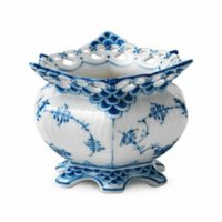 Royal Copenhagen Fluted Full Lace Sugar Bowl in Blue