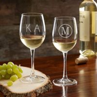 Classic Celebrations 12 oz. White Wine Glass with Monogram