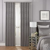 Beautyrest® LaSalle 95-Inch Room Darkening Rod Pocket/Back Tab Window Curtain Panel in Grey