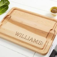 Family Name Established 15-Inch x 21-Inch Cutting Board in Maple