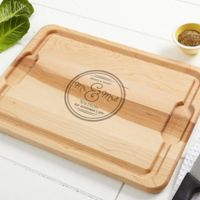 Circle of Love 15-Inch x 21-Inch Cutting Board in Maple