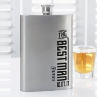 I Do Crew Groomsman Flask in Stainless Steel
