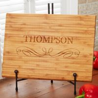 Classic Family 10-Inch x 14-Inch Bamboo Cutting Board