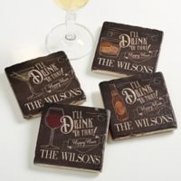 """I'll Drink to That"" Tumbled Stone Coasters (Set of 4)"