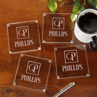 Square Monogram Glass Coasters (Set of 4)