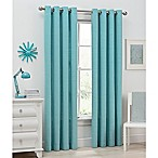 Del Ray 54-Inch Light Filtering Grommet Top Window Curtain Panel in Aqua
