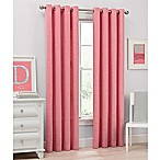 Del Ray 54-Inch Light Filtering Grommet Top Window Curtain Panel in Coral