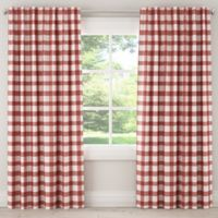 Skyline Furniture Buffalo Square 84-Inch Rod Pocket/Back Tab Window Curtain Panel in Pink
