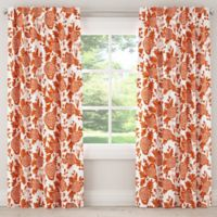 Skyline Furniture Skyline Garden Bird 120-Inch Rod Pocket/Back Tab Window Curtain Panel in Orange