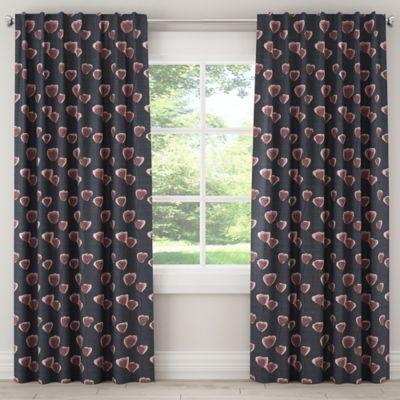 Skyline Poppy 120 Inch Rod Pocket Back Tab Window Curtain Panel In Navy