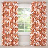 Skyline Furniture Garden Bird 84-Inch Rod Pocket Room Darkening Window Curtain Panel in Orange