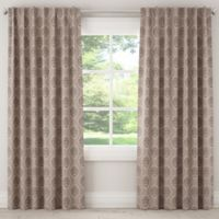 Skyline Furniture Damask 63-Inch Rod Pocket Room Darkening Window Curtain Panel in Taupe
