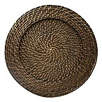 "Round Rattan Espresso 13"" Charger Plate( Set of 4)"