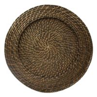 "Round Rattan Espresso 13"" Charger Plate"