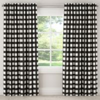 Skyline Furniture Buffalo Square 108-Inch Rod Pocket Room Darkening Window Curtain Panel in Black