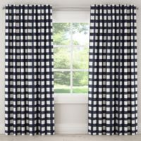 Skyline Furniture Buffalo Square 84-Inch Rod Pocket Room Darkening Window Curtain Panel in Blue