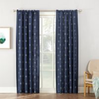 Maya 95-Inch Rod Pocket Window Curtain Panel in Indigo