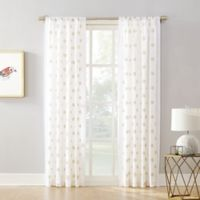 Maya 108-Inch Rod Pocket Window Curtain Panel in White