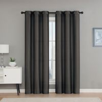 VCNY Home Monroe 84-Inch Grommet Top Room Darkening Window Curtain Panel Pair in Chocolate