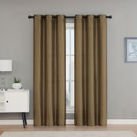 VCNY Home Monroe 63-Inch Grommet Top Room Darkening Window Curtain Panel Pair in Taupe
