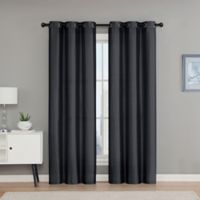 VCNY Home Monroe 84-Inch Grommet Top Room Darkening Window Curtain Panel Pair in Charcoal