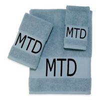 Avanti Embroidered Custom Cuff Hand Towel in Blue
