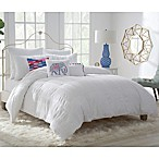 Zoey King Duvet Cover Set in White