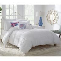 Zoey Twin Duvet Cover Set in White
