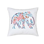 Zoey Square Throw Pillow in White