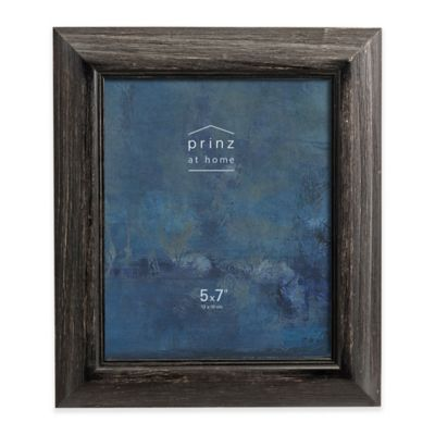 prinz 5 inch x 7 inch brushed pine wood picture frame in black