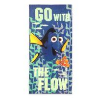Disney® Dory Beach Towel in Blue