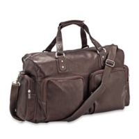 Piel® Leather 18-Inch Classic Multi-Pocket Carry-On in Chocolate