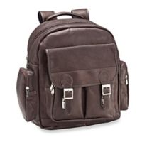 Piel® Leather 16-Inch Ultimate Travelers Laptop Backpack in Chocolate
