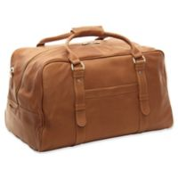 Piel® Leather Classic 19-Inch Large Top-Zip Duffle Bag in Saddle