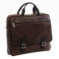 Piel® Leather 16-Inch Vintage Business Case in Vintage Brown
