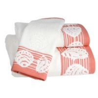 Shell Harbor Hand Towel in Coral