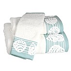 Shell Harbor Bath Towel in Blue
