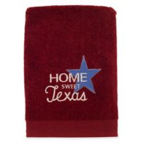 Avanti Home Sweet Texas Embroidered Hand Towel in Brick