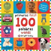 """""""First 100 Words"""" English/Spanish Board Book by Roger Priddy"""