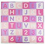 Tadpoles ABC 60-Piece Play Mat in Pink/Purple