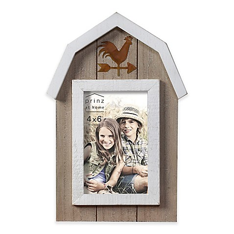 Prinz 4 Inch X 6 Inch On The Farm Wood Picture Frame In Barn Natural
