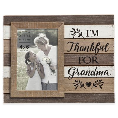prinz 4 inch x 6 inch kendall thankful grandma wood picture frame