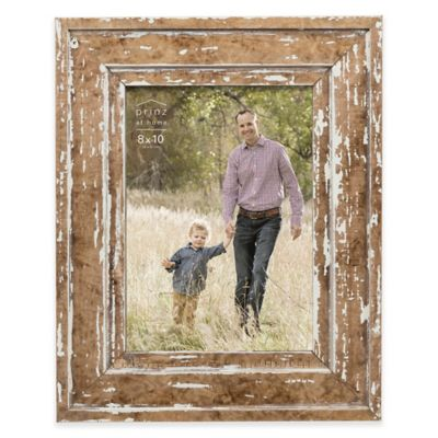 prinz 8 inch x 10 inch old mill distressed wood picture frame in natural