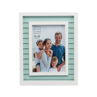 prinz 4 inch x 6 inch bay view shutter wood frame in aqua