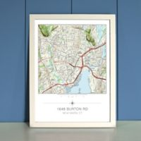 Your Home in the Center Framed Map in Cream