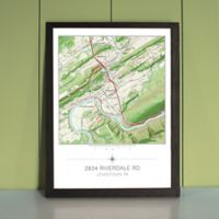 Your Home in the Center Framed Map in Black