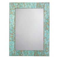 Jamie Young 48-Inch x 36-Inch Turquoise Pebble Rectangle Mirror