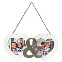 Grasslands Road® 2-Photo Hanging Double Heart Picture Frame