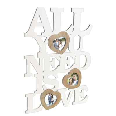 "Grasslands Road® 3-Photo ""All You Need Is Love"" Wall Décor"